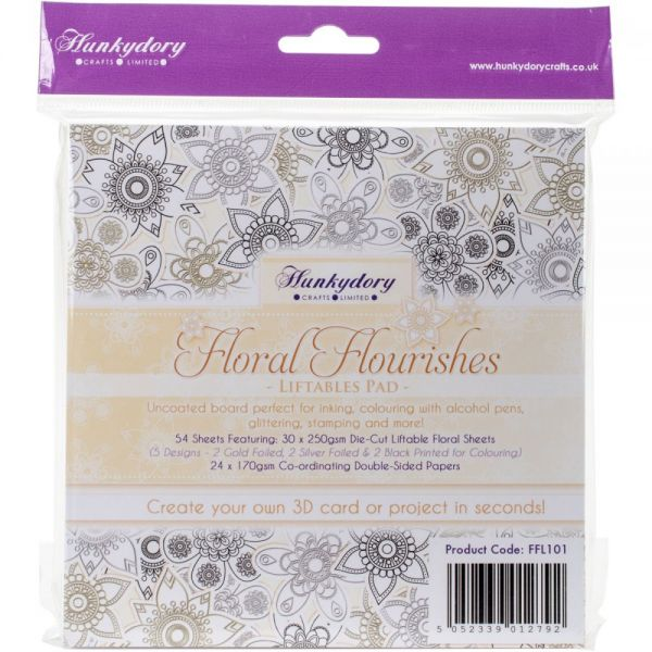 "Hunkydory Liftables Cardstock Die-Cuts Pad 6""X6"" 54/Pkg"