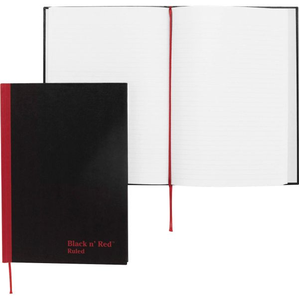 John Dickinson Black n' Red Recycled Notebook