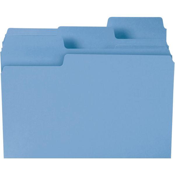 Smead SuperTab Blue Colored File Folders