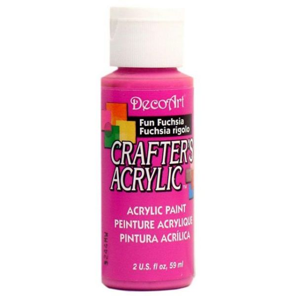 Deco Art Crafter's Acrylic Fun Fuchsia Acrylic Paint