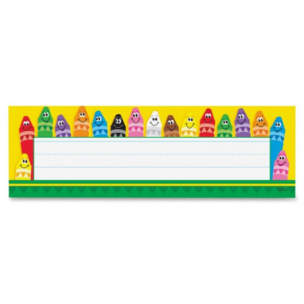 Trend Colorful Crayons Desk Name Plates