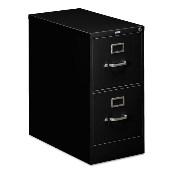 HON 310 Series Two-Drawer, Full-Suspension File, Letter, 26-1/2d, Black