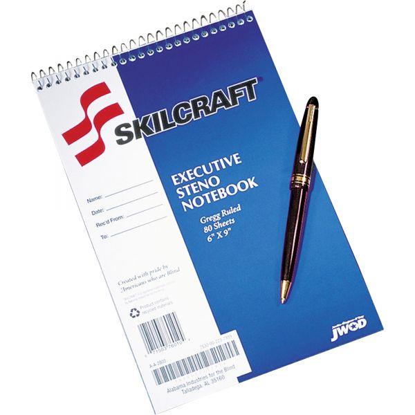 SKILCRAFT Executive Steno Notebooks