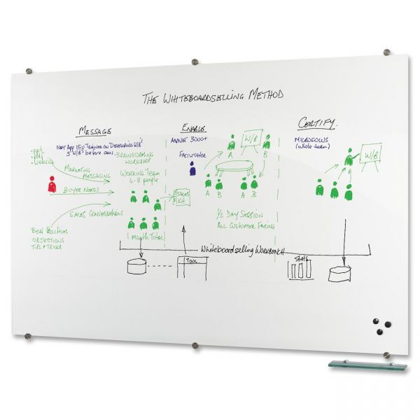 Best-Rite Visionary 6' x 4' Glass Dry Erase Board