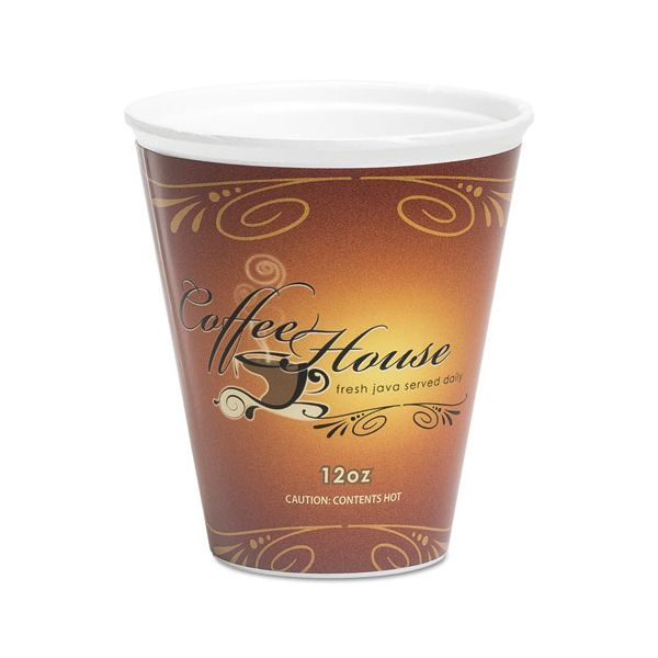 WinCup Marquee Coffee House 12 oz Foam Cups