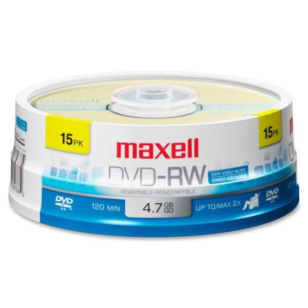Maxell Rewritable DVD Media