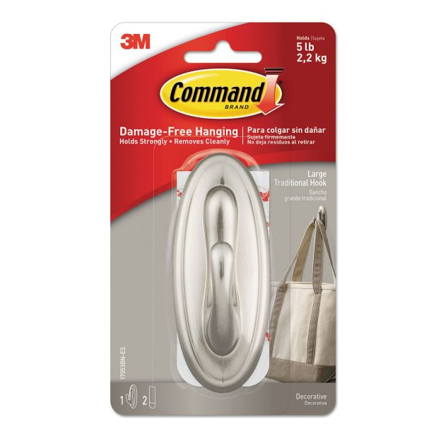 Command Adhesive Large Decorative Hook