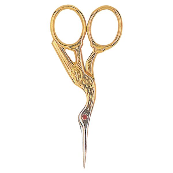 Red Ruby Swarovski Crystal Stork Scissors 3.5""