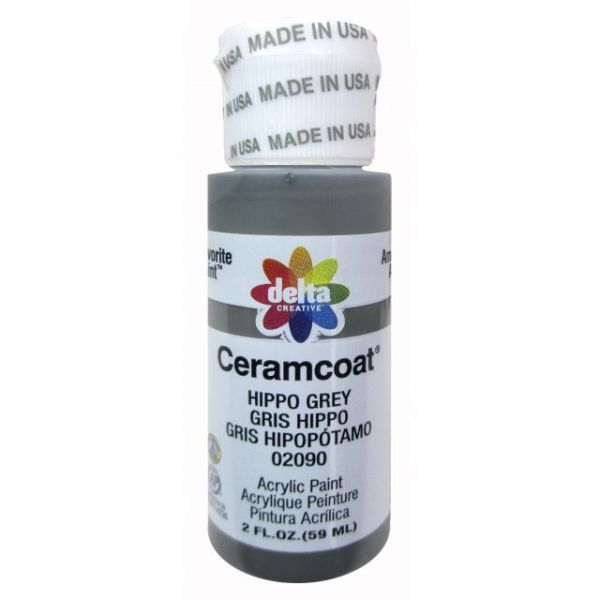 Ceramcoat Hippo Grey Acrylic Paint
