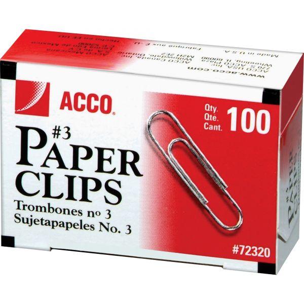Acco #3 Paper Clips