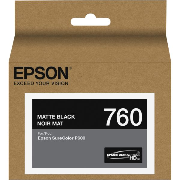 Epson 760 UltraChrome Matte Black HD Ink Cartridge (T760820)