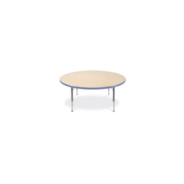 Virco Primary Collection Round Activity Table, 48 dia. x 25h, Fusion Maple/Chrome