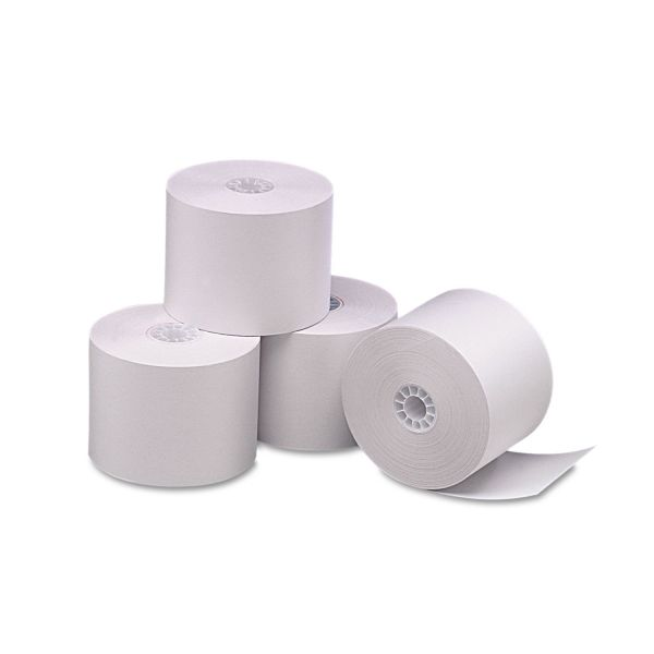 "PM Company Single Ply Thermal Cash Register/POS Rolls, 2 1/4"" x 165 ft., White, 6/Pk"