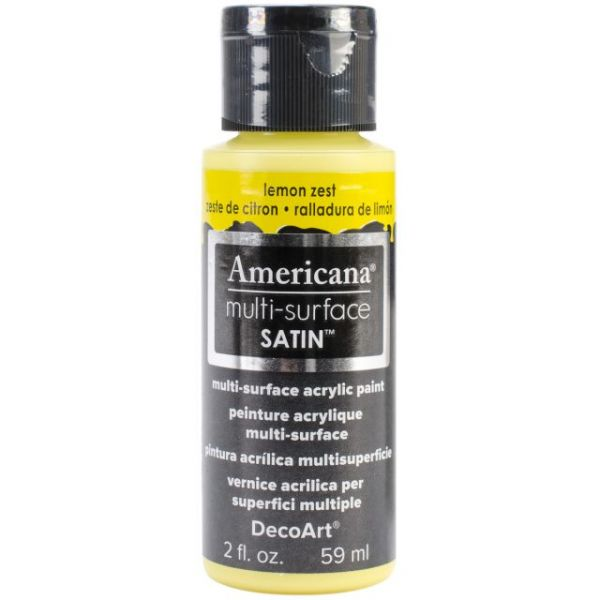 Deco Art Americana Multi-Surface Satin Lemon Zest Acrylic Paint