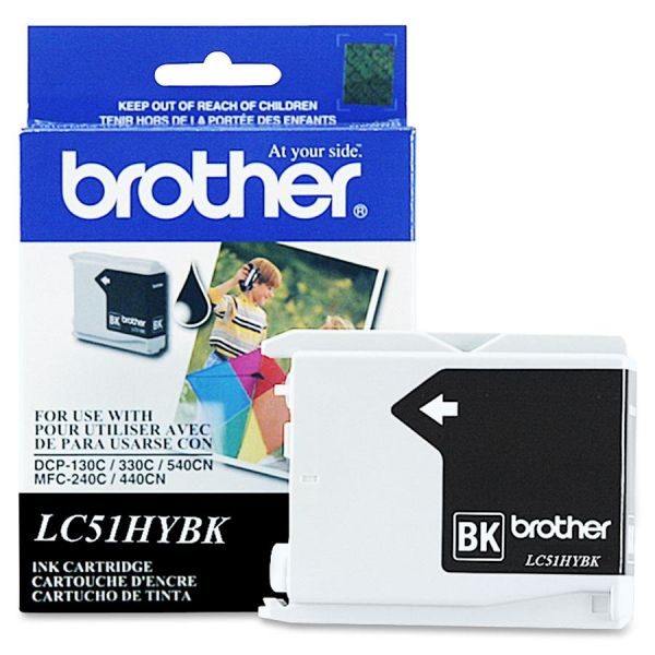 Brother LC51HYBK Black High Yield Ink Cartridge