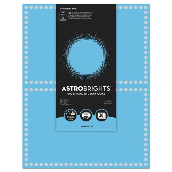 Astrobrights Foil Enhanced Certificate Paper