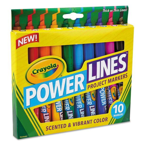 Crayola Power Lines Project Markers