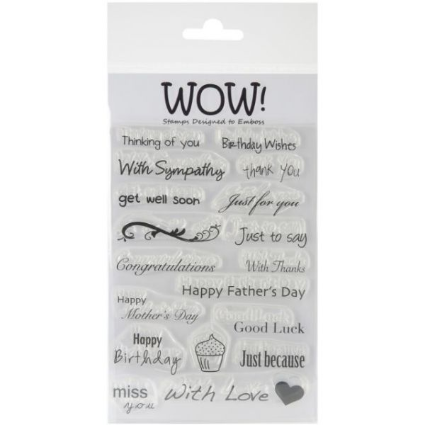 "WOW! Clear Stamp Set 4""X5.75"""