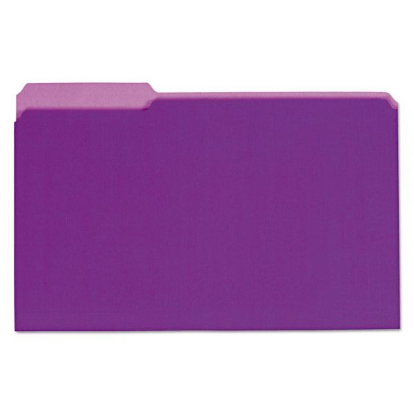 Universal Recycled Purple Colored File Folders