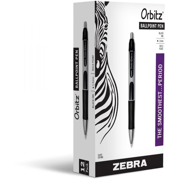 Zebra Orbitz Retractable Ballpoint Pens