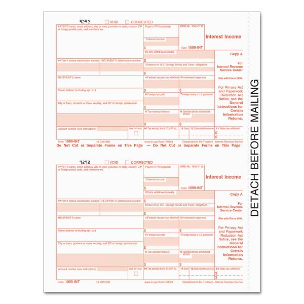 TOPS Tax/1099 Interest Forms