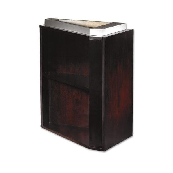 Tiffany Industries Eclipse Series False Pedestal for Credenza Top, 15w x 24d x 27-3/4h, Esp Walnut