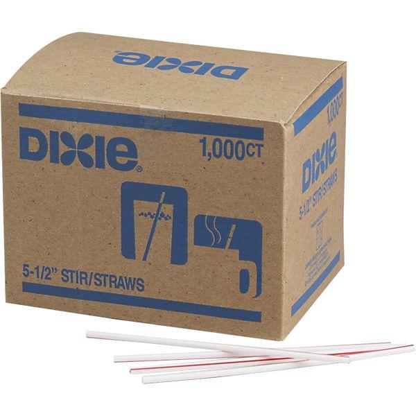 Dixie Heat-Resistant Red Striped Stir Sticks