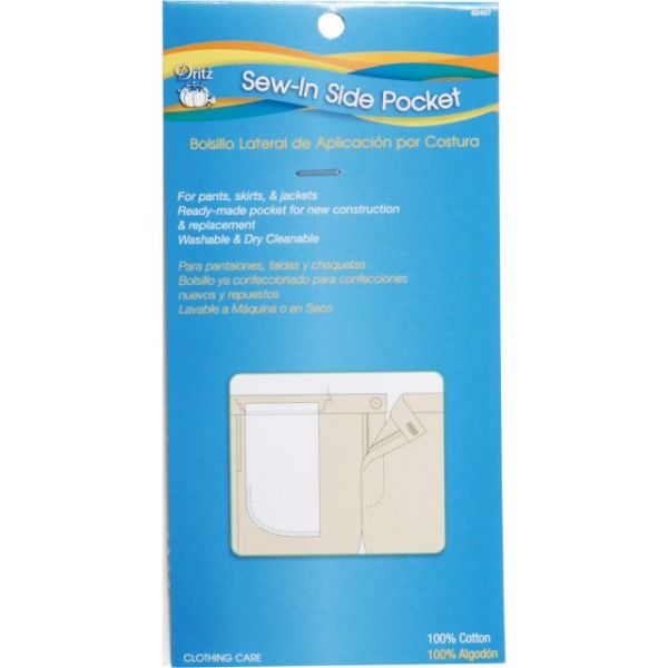 "Sew-In Side Pocket 13""X6-3/8"" 1/Pkg"