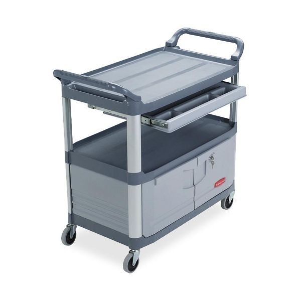 Rubbermaid Instrument Cart with Lockable Doors & Sliding Drawers