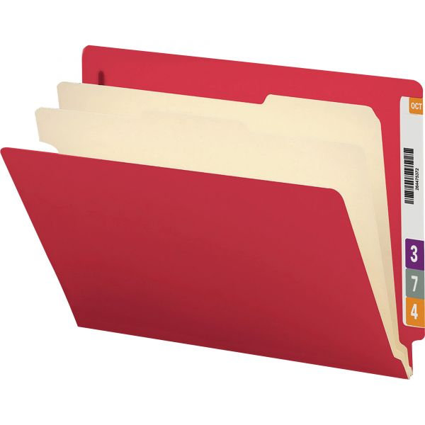 Smead End Tab Red Classification Folders