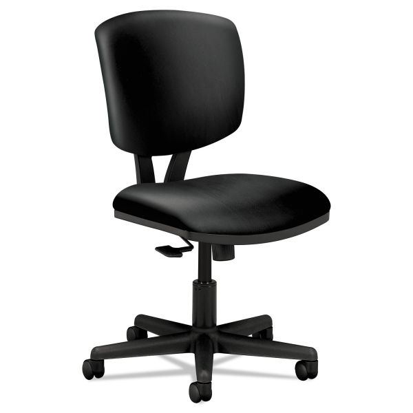 HON Volt Series Task Chair with Synchro-Tilt, Black Leather