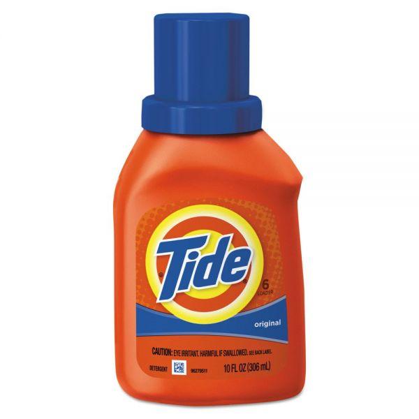 Tide Ultra Liquid Laundry Detergent, Original Scent, 10 oz Bottle, 12/Carton