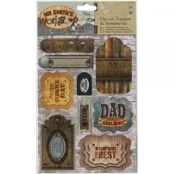 Papermania Mr. Smith's Workshop A5 Die-Cuts 2/Sheets