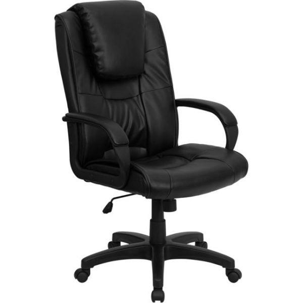 Flash Furniture High Back Executive Office Chair [GO-5301BSPEC-CH-BK-LEA-GG]