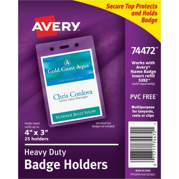 Avery Secure Top Heavy-Duty Vertical Badge Holders
