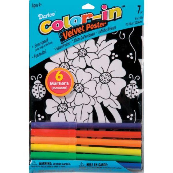 """Color-In Velvet Poster 6""""X9"""""""