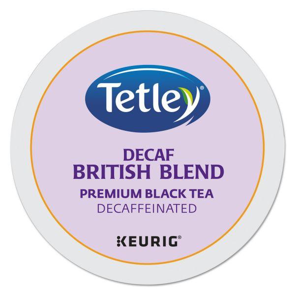 Tetley British Blend Decaf Premium Black Tea K-Cups