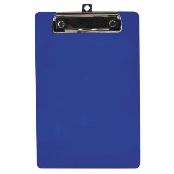 "Saunders 6"" x 9"" Blue Plastic Clipboard"