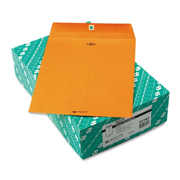 """Quality Park Gummed 10"""" x 13"""" Clasp Envelopes"""