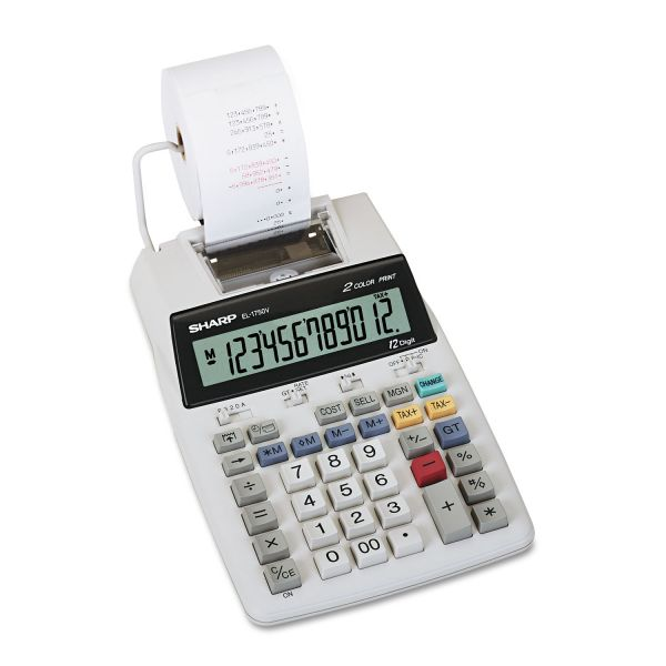 Sharp EL1750V Black & Red Printing Calculator