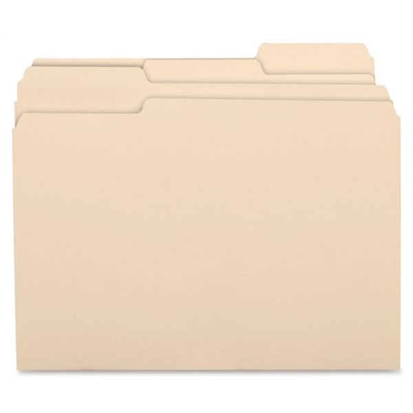 Business Source Recycled Top Tab Manila File Folders