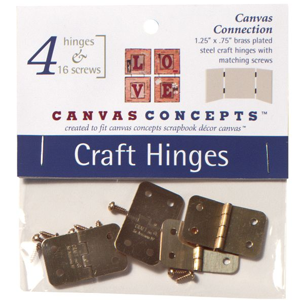 Decor Canvas Craft Hinges 4/Pkg