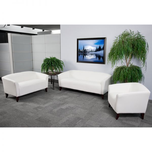 Flash Furniture HERCULES Imperial Series Reception Set in White