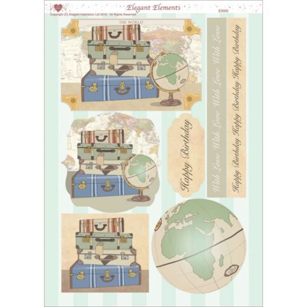 "3D Die-Cut Decoupage Sheet 8.3""X11.69"""