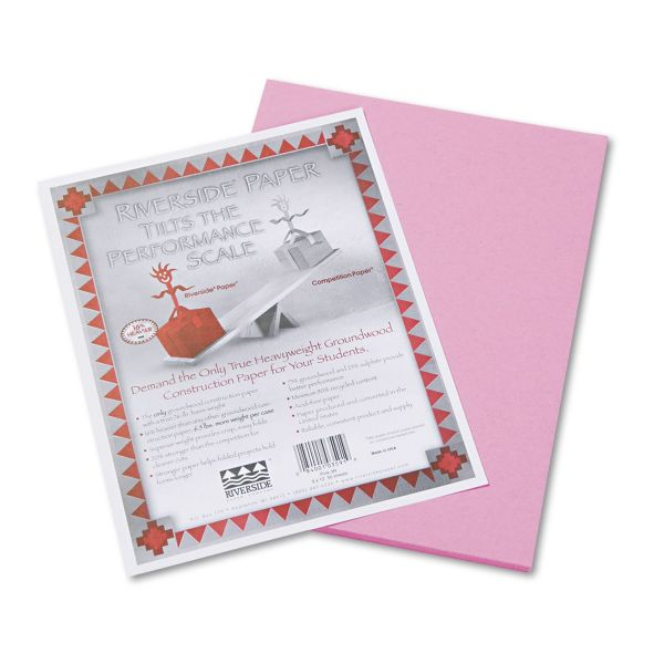 Riverside Groundwood Pink Construction Paper
