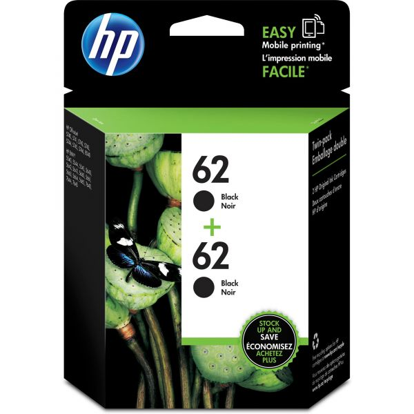 HP 62 Black Ink Cartridges (T0A52AN)