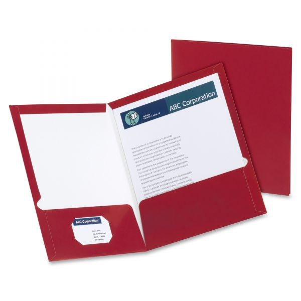 Oxford Laminated Two Pocket Folders