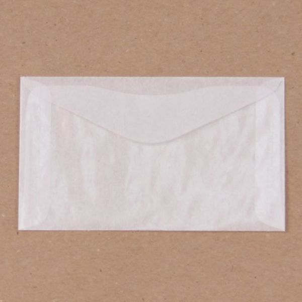 "Glassine Envelopes 2.5""X4.25"" 10/Pkg"