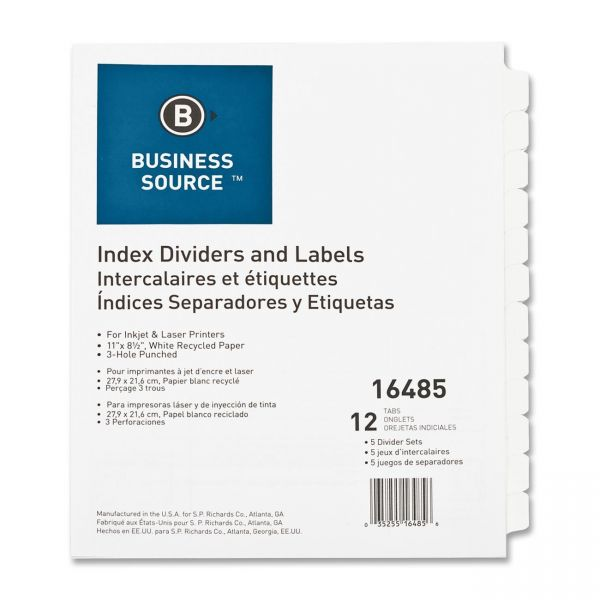 Business Source Index Dividers & Labels