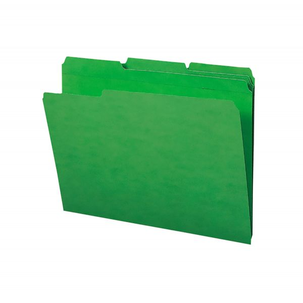 Smead 100% Recycled Green Colored File Folders